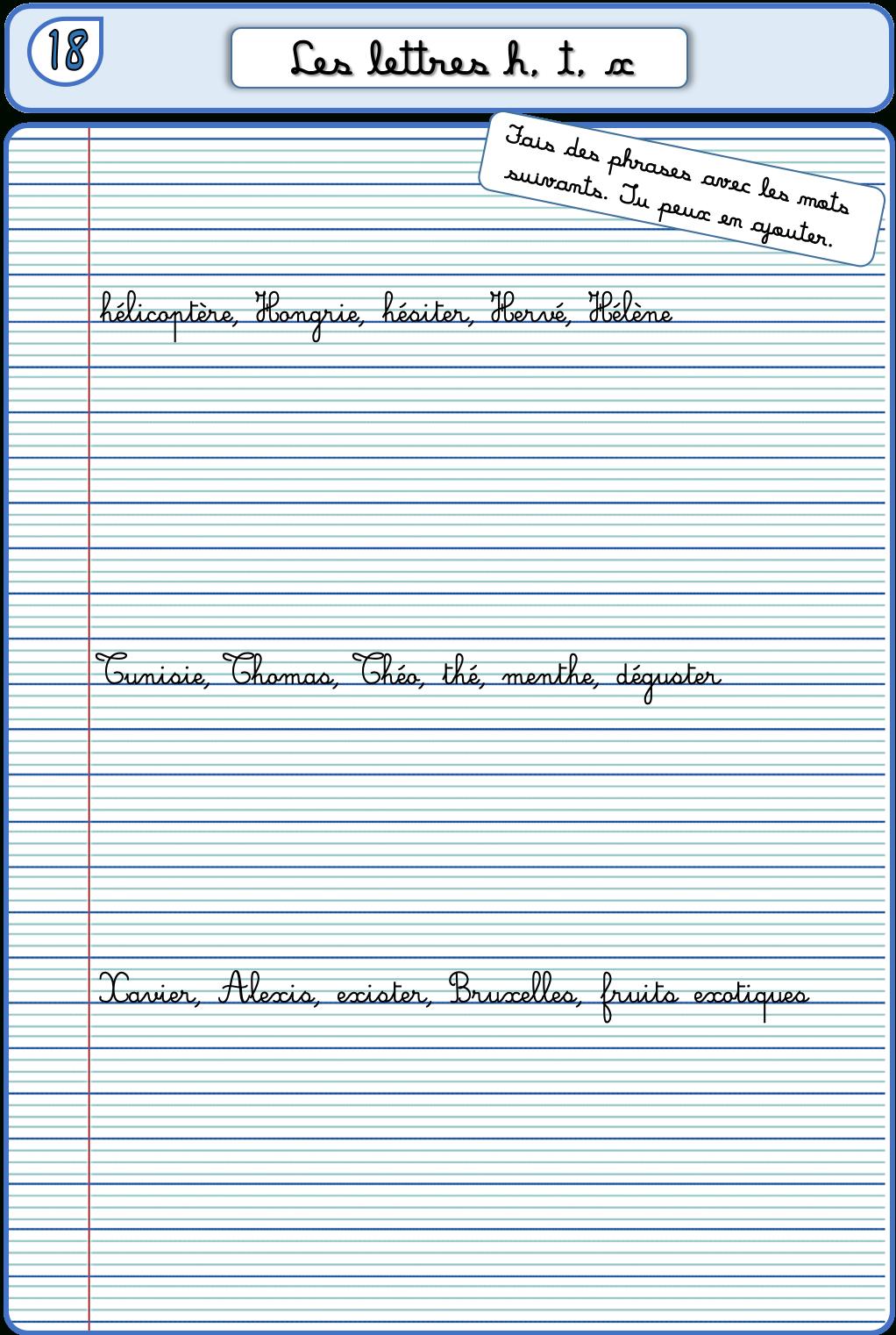 Un Cahier D'écriture Cm1 Cm2, Fiches À Photocopier – La dedans Exercice D Écriture Ce2