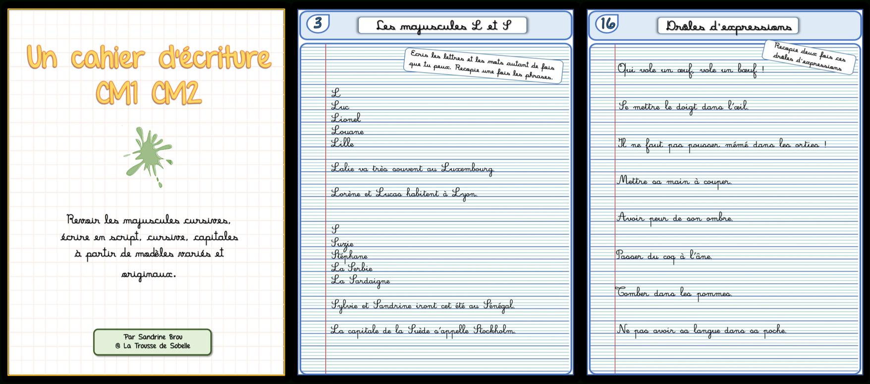 Un Cahier D'écriture Cm1 Cm2, Fiches À Photocopier – La encequiconcerne Exercice D Écriture Ce2