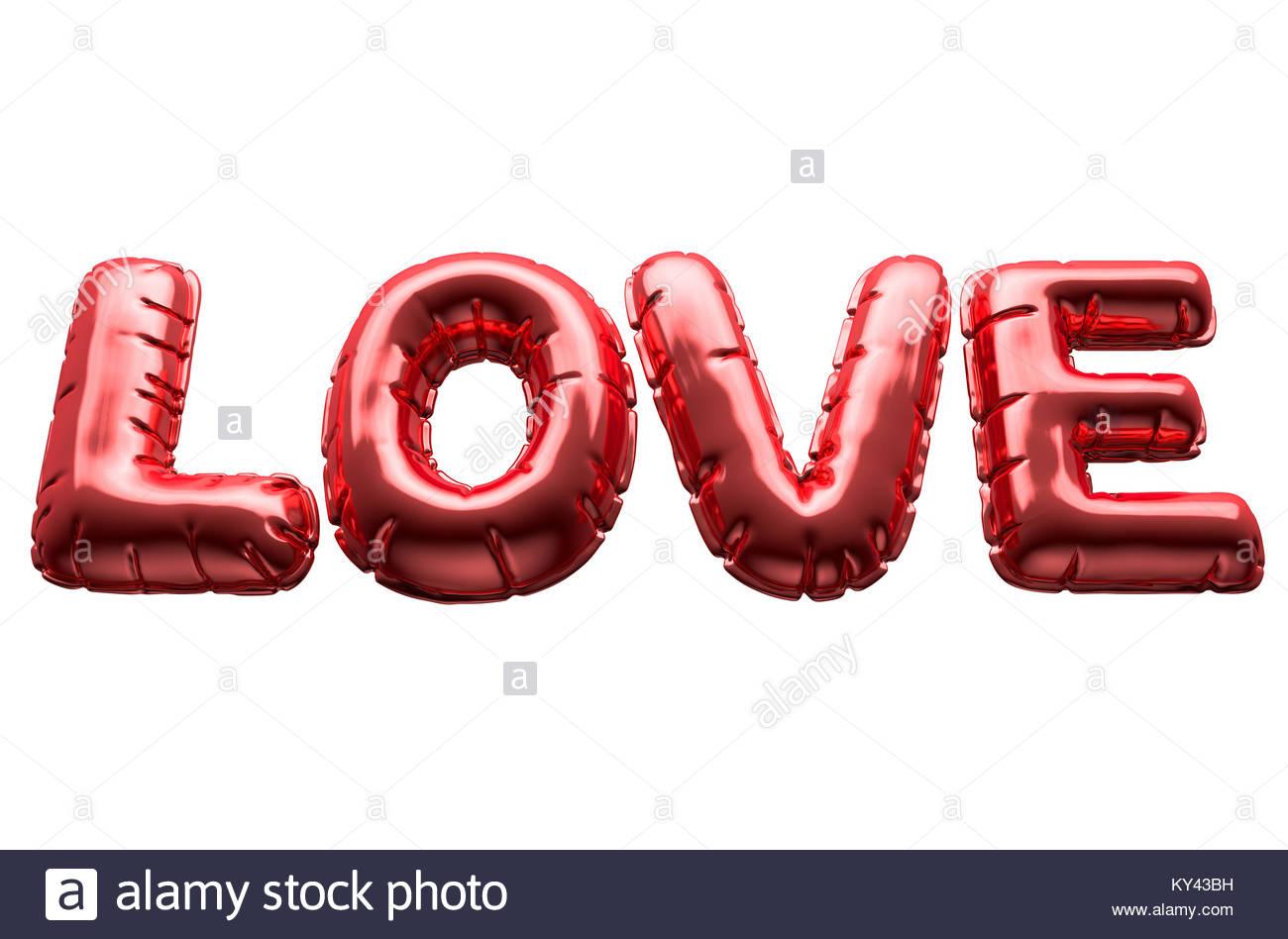 Un Ensemble De Quatre Lettres Ballon Métallique Le Mot Amour pour Un Mot Pour Quatre Images