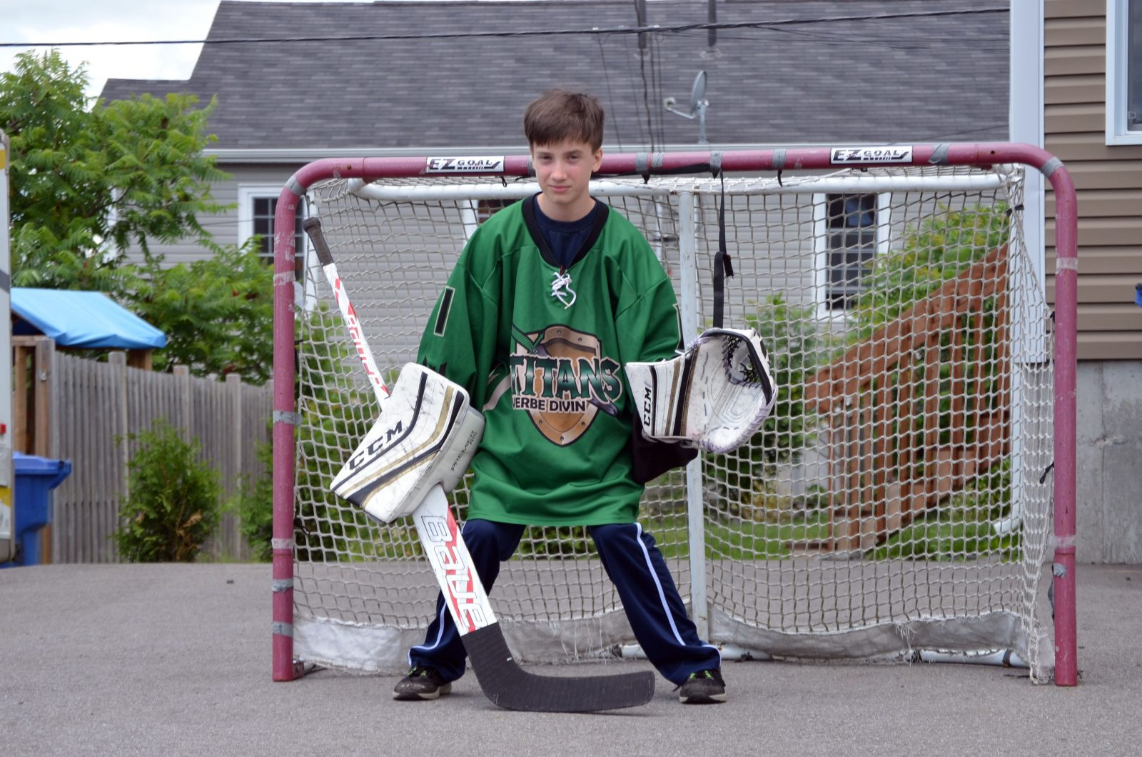 Un Gardien De But De Cowansville Perfectionne Son Hockey En pour Jeux De Gardien De But