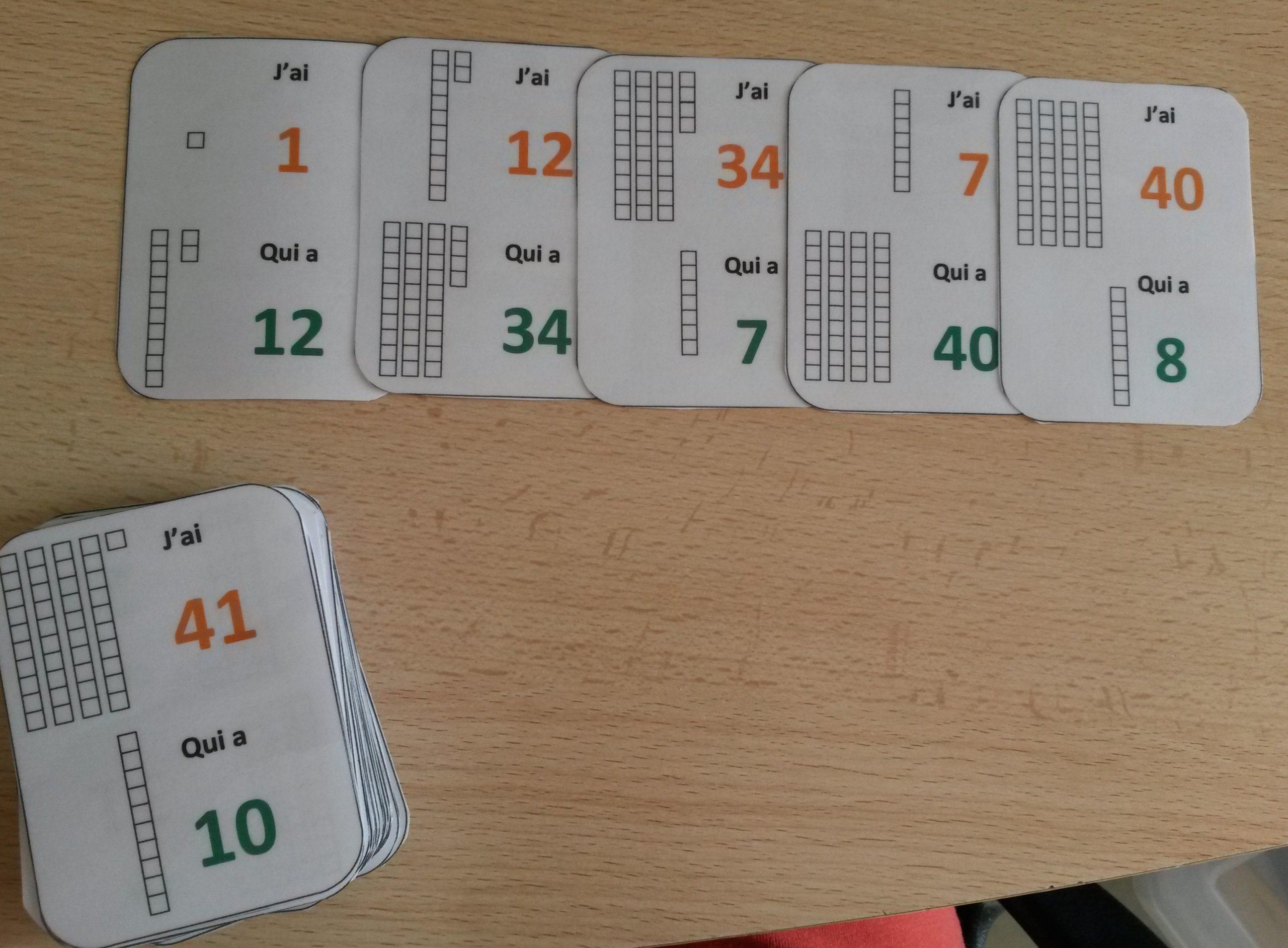 Un Jeu De Cartes Pour Apprendre Le Nom Des Nombres concernant Jeux Enfant Cp