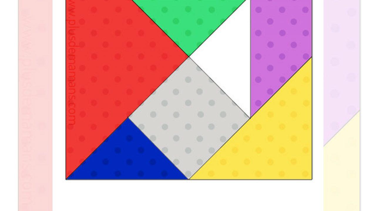 Un Jeu De Tangram À Imprimer [Diy & Activités Manuelles intérieur Tangram A Imprimer