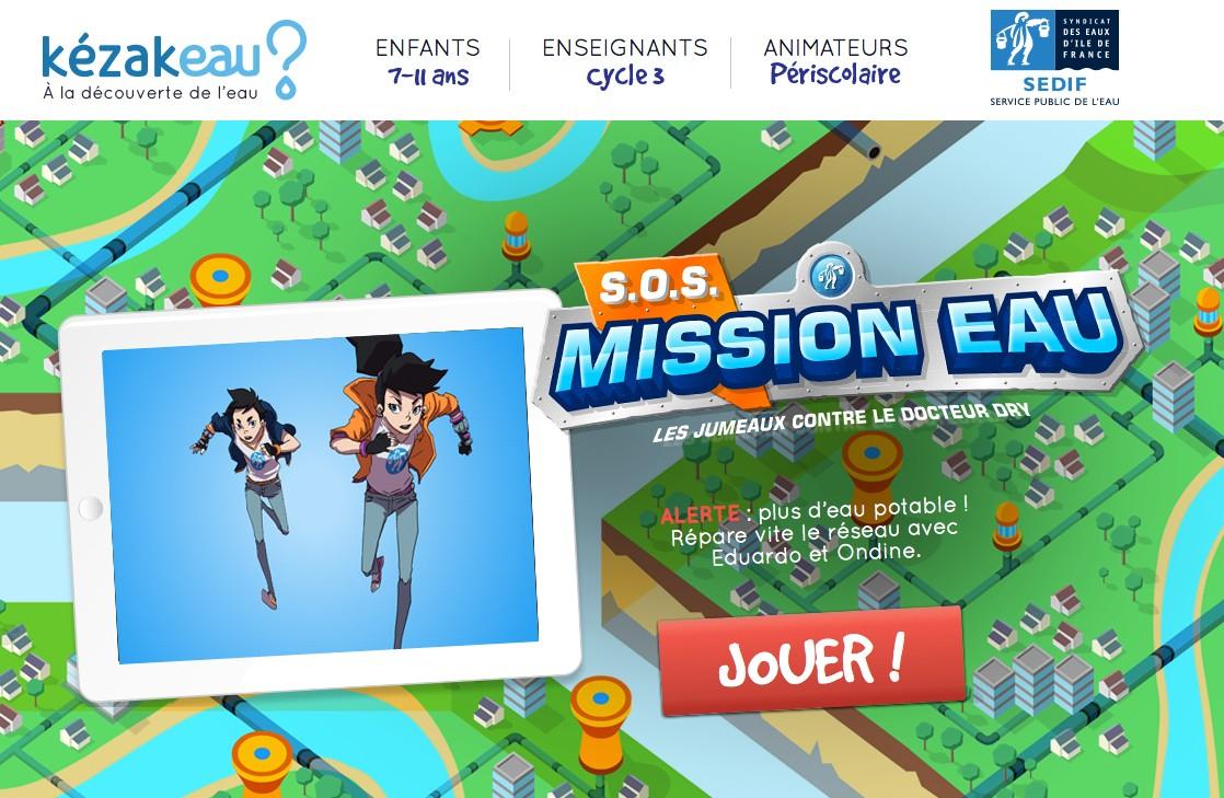 Un Jeu Sérieux Pour Sensibiliser Les Enfants À L'eau Potable encequiconcerne Jeux En Ligne Enfant 3 Ans