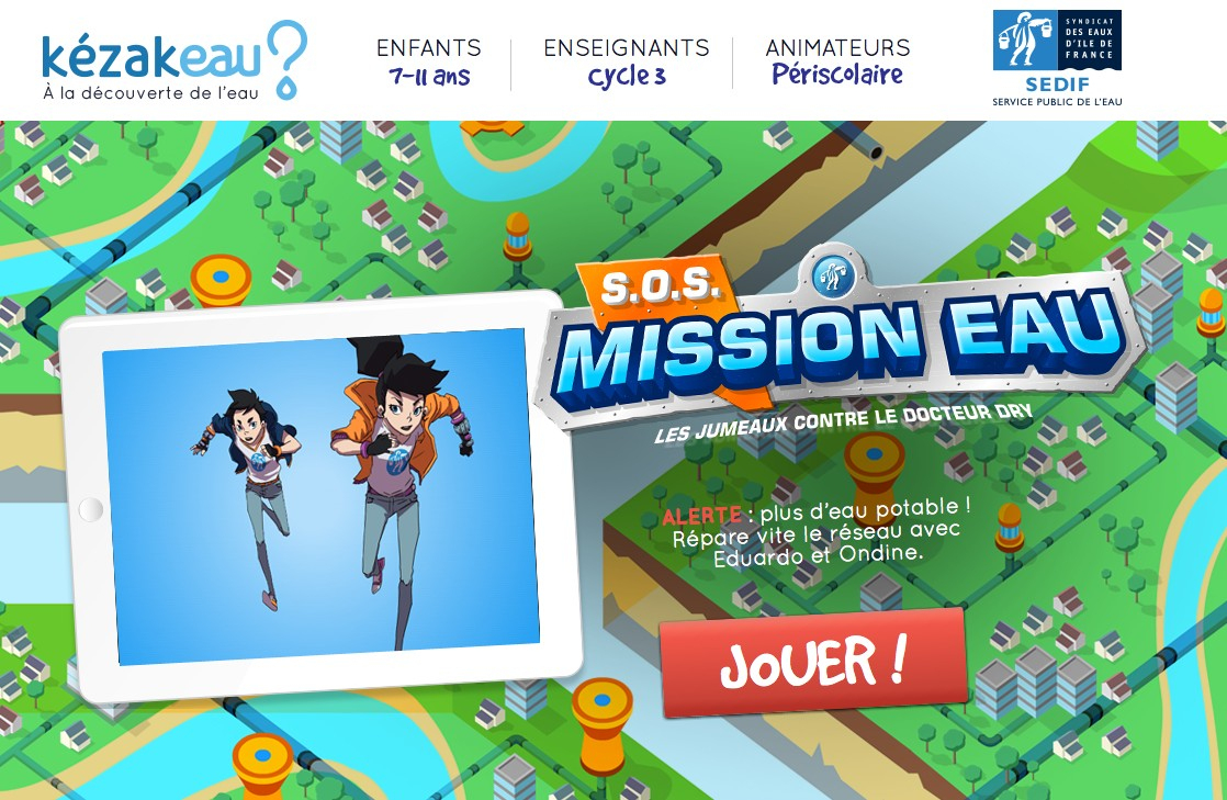 Un Jeu Sérieux Pour Sensibiliser Les Enfants À L'eau Potable tout Jeux Educatif En Ligne Gratuit