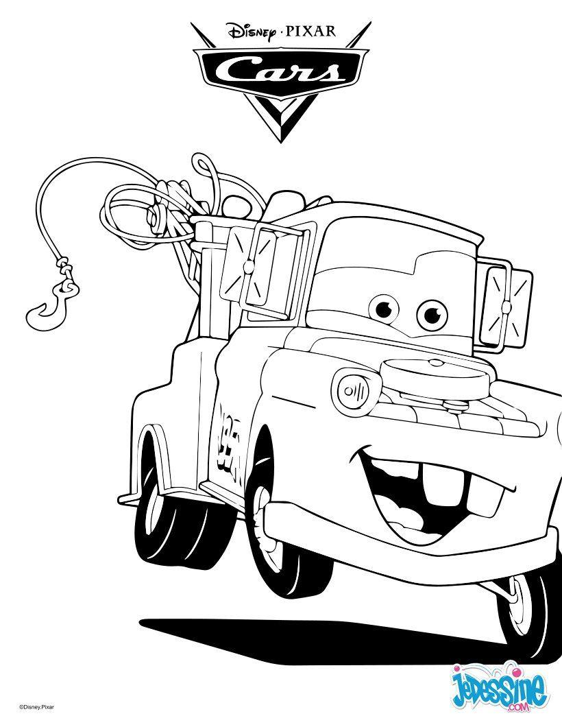 Un Joli Coloriage Sur Cars Avec Martin La Dépanneuse. Un à Flash Mcqueen Martin
