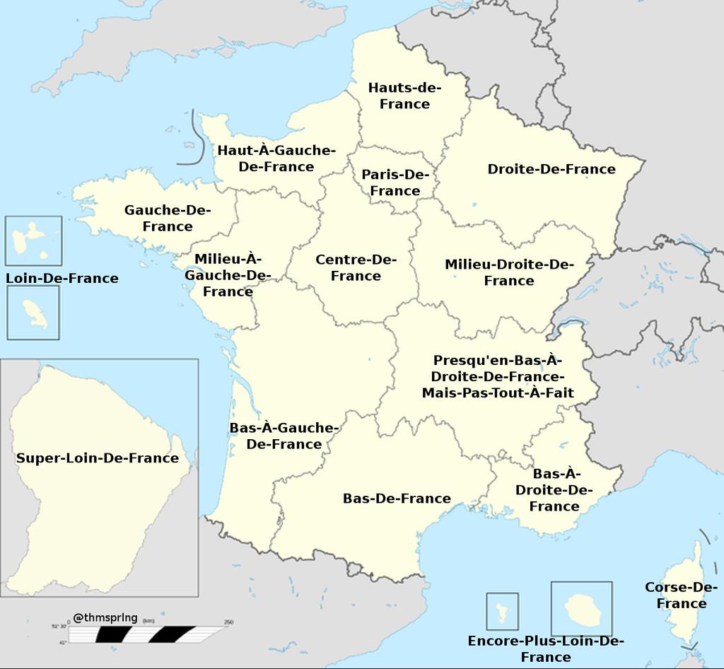 """Un Jour Une Carte On Twitter: """"noms Des Nouvelles Régions intérieur Nouvelles Régions Carte"""