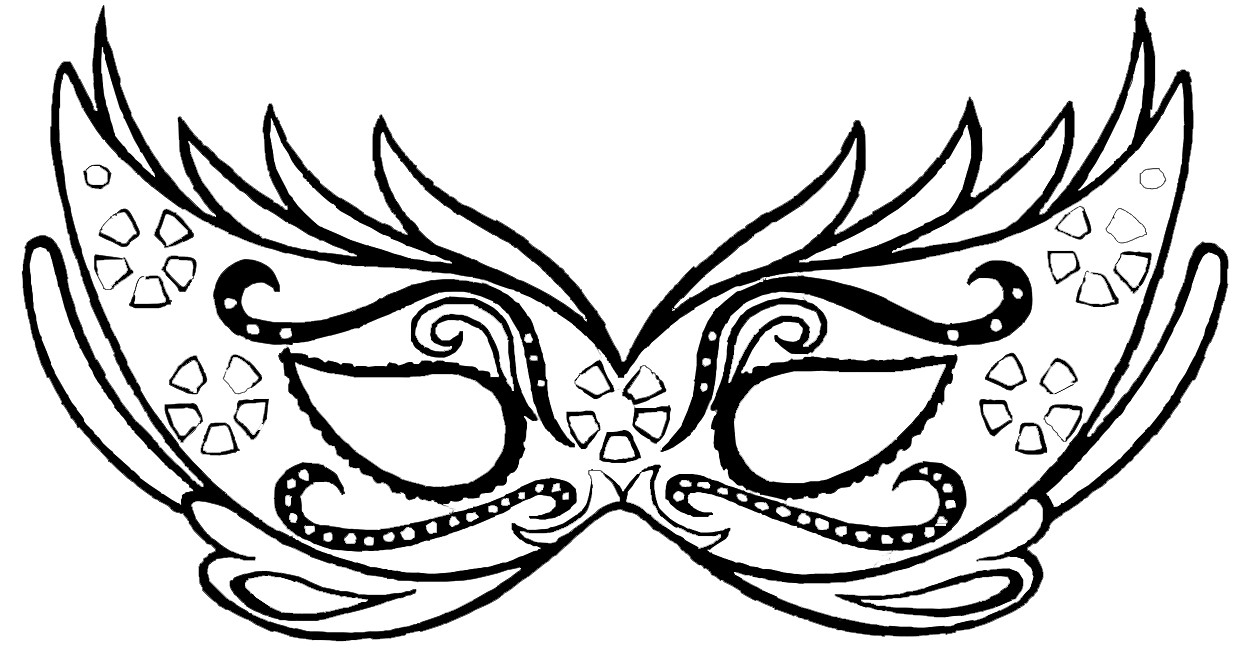 Un Masque De Carnaval À Colorier - Family Sphere - Garde D encequiconcerne Masque Enfant A Colorier