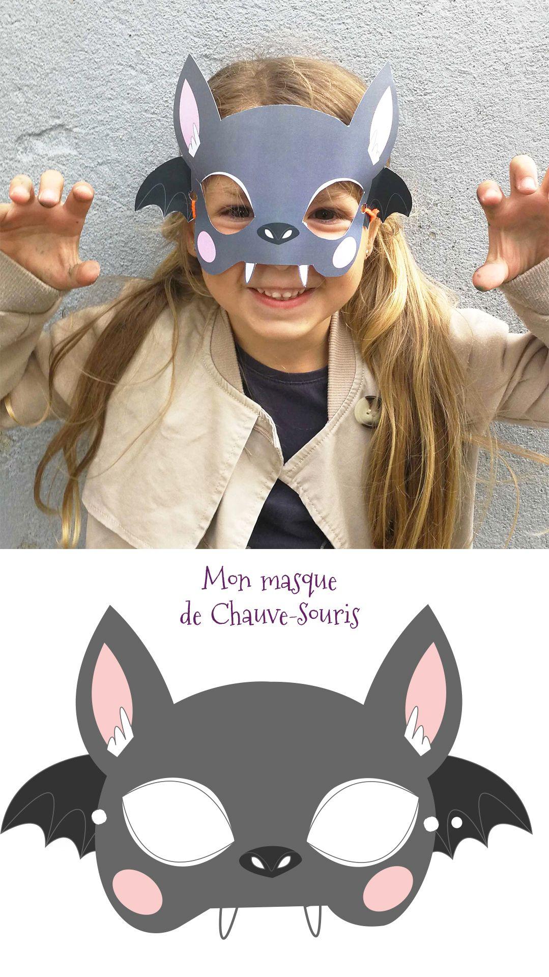 Un Masque De Chauve-Souris À Imprimer Et À Découper Pour pour Masque De Catwoman A Imprimer