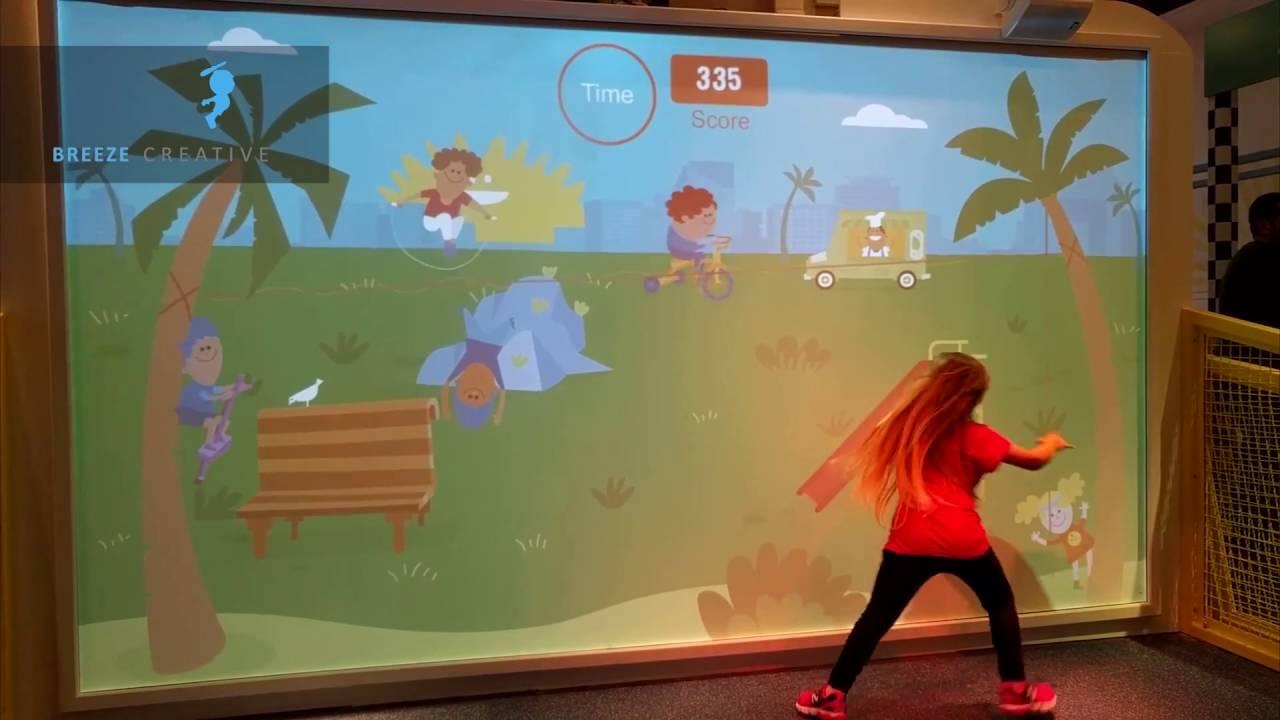 Un Mur Interactif Avec Des Jeux Pour Enfants dedans Jeu Interactif Enfant