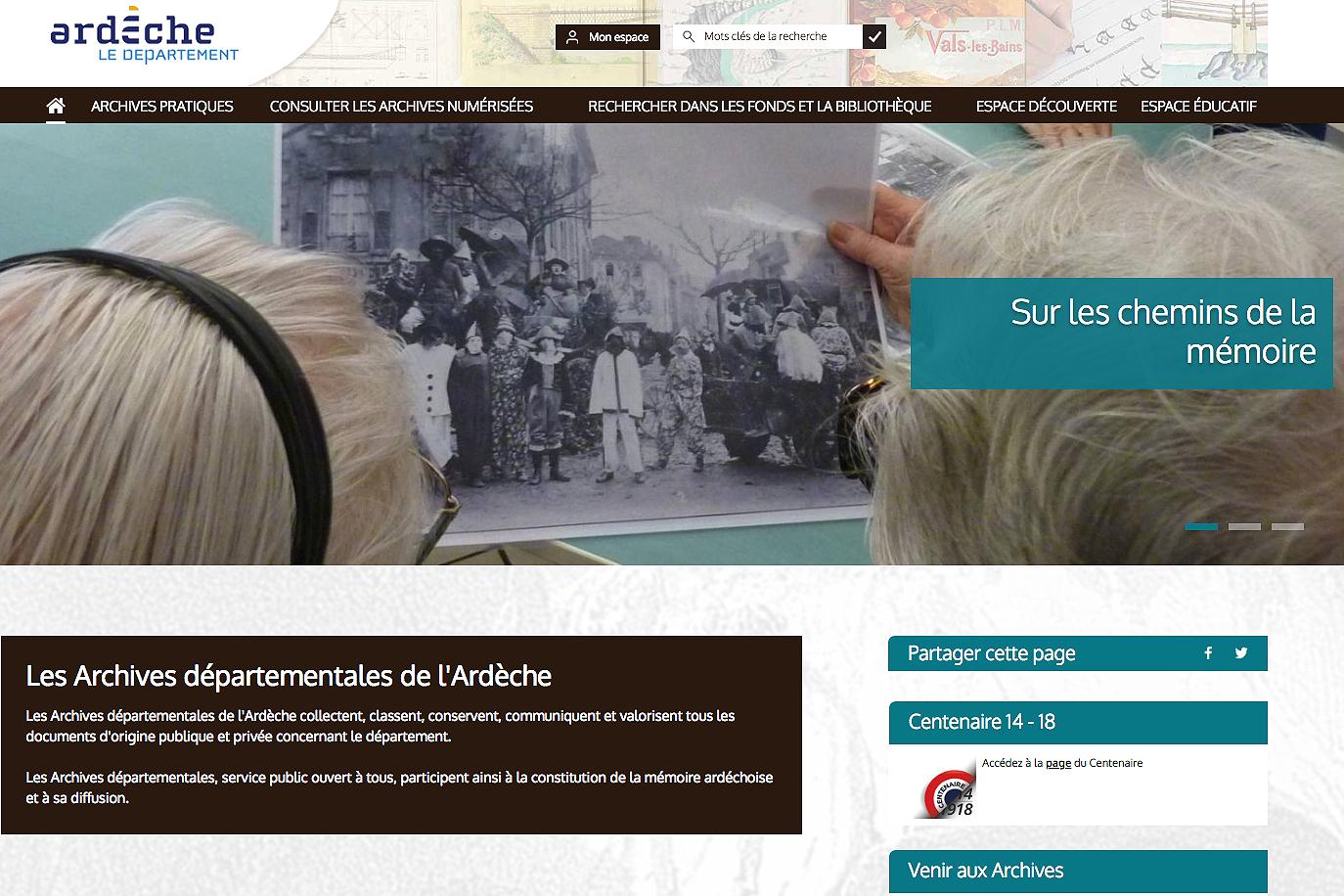 Un Nouveau Site Web Pour Les Archives De L'ardèche encequiconcerne Logiciel Éducatif En Ligne