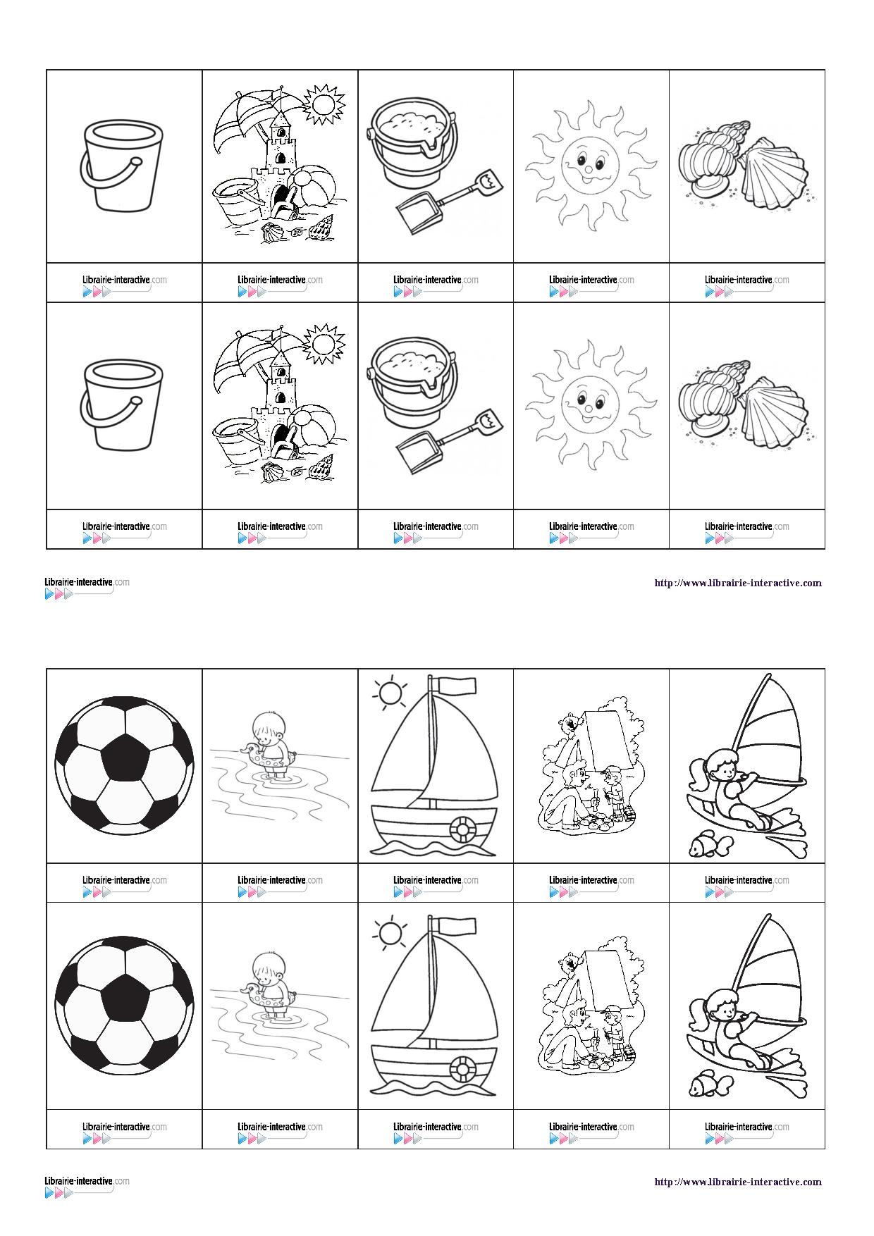 Un Petit Jeu De Memory Sur Le Thème Des Vacances   Jeux De destiné Petit Jeu Maternelle