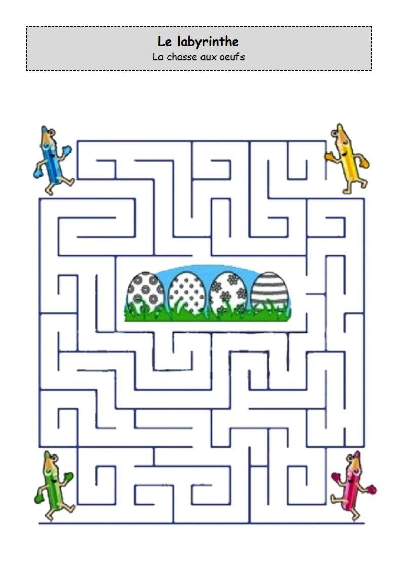 Un Peu Comme A Ecole Labyrinthe intérieur Exercice Grande Section Maternelle Gratuit A Imprimer