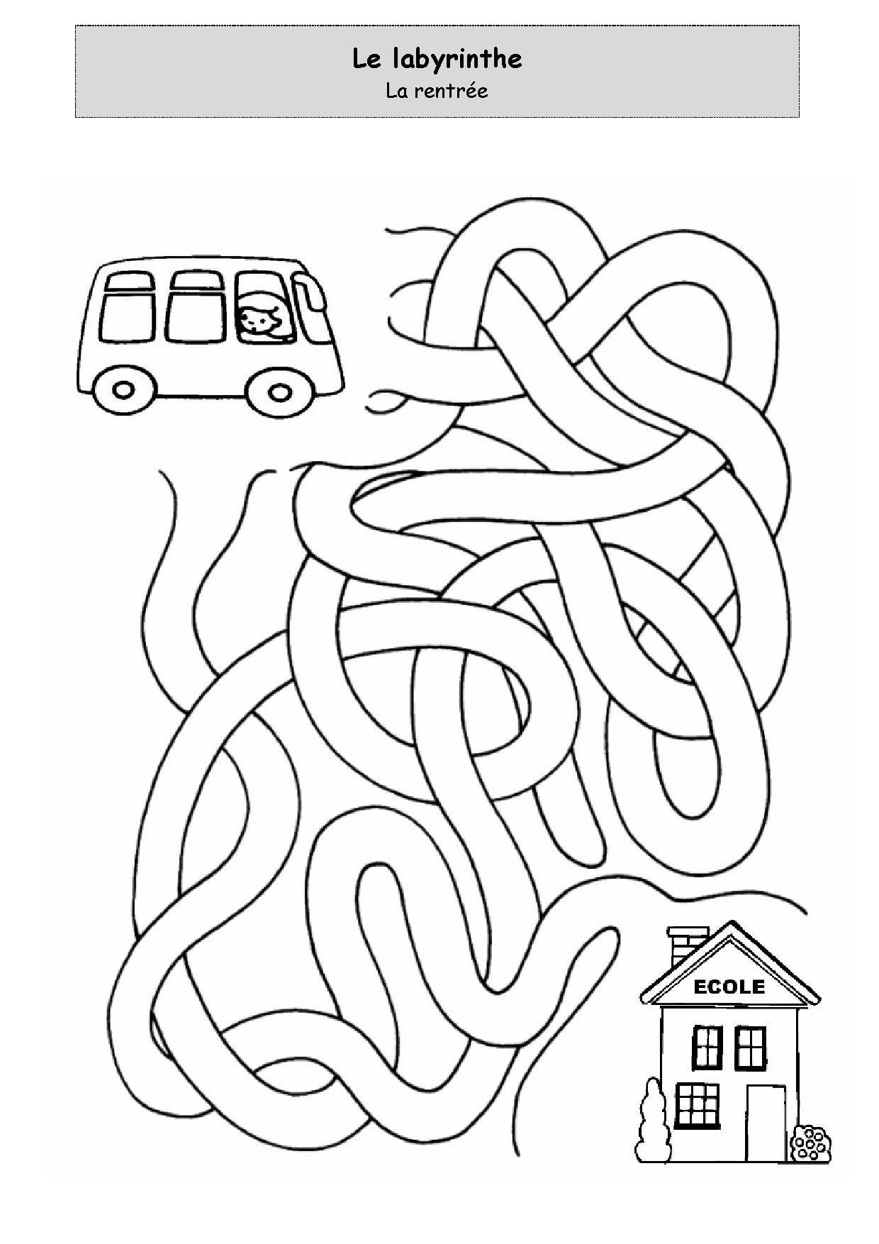 Un Peu Comme A Ecole Labyrinthe - Page 2 dedans Labyrinthe A Imprimer