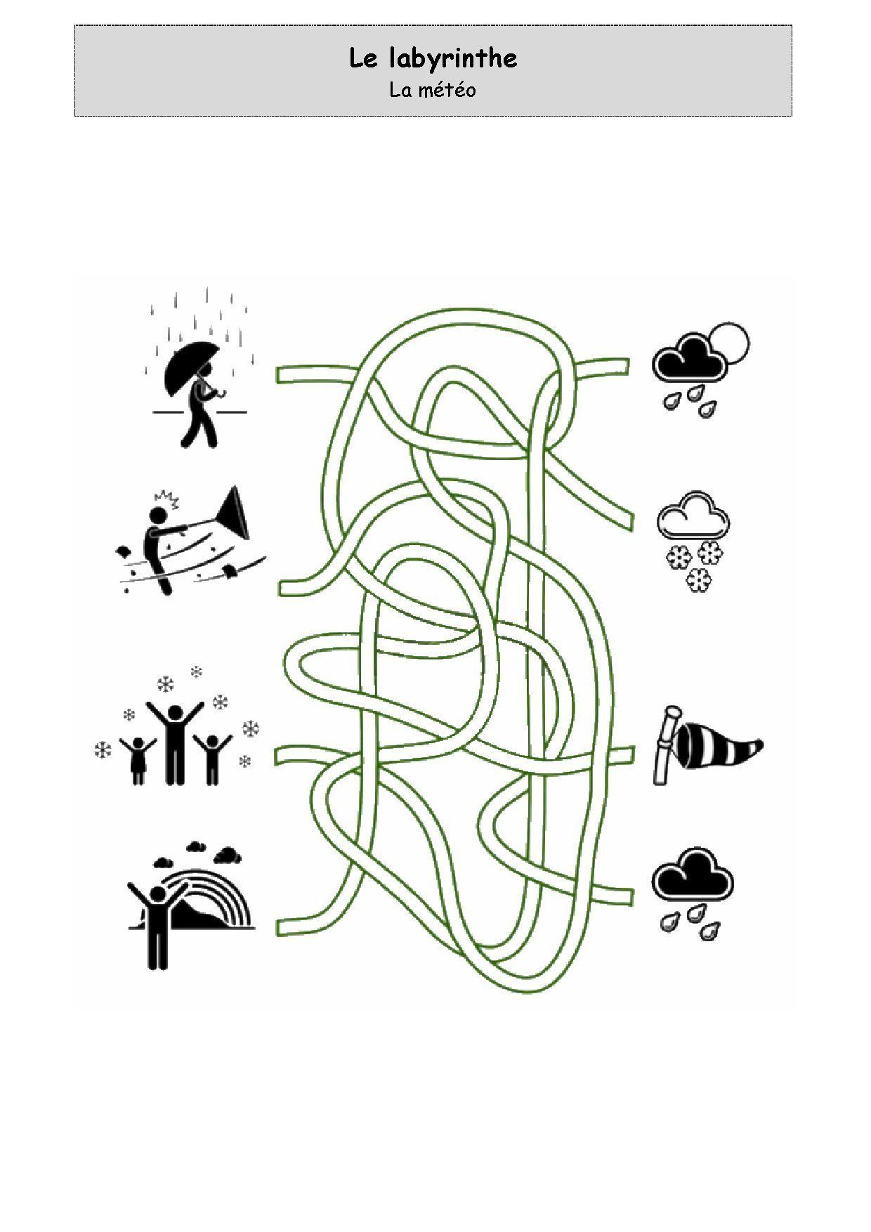 Un Peu Comme A Ecole Labyrinthe tout Exercices Moyenne Section Maternelle Pdf