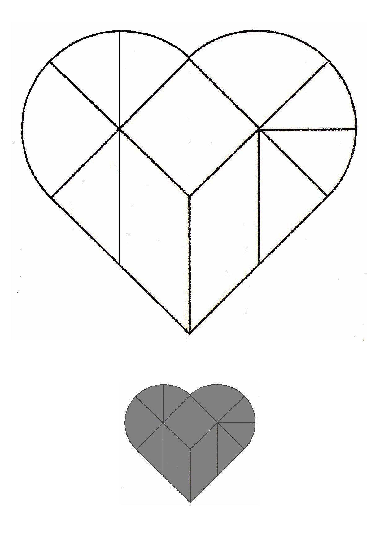 Un Peu Comme A Ecole Tangram à Modèle Tangram À Imprimer