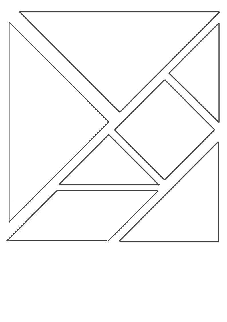 Un Peu Comme A Ecole Tangram intérieur Modèle Tangram À Imprimer
