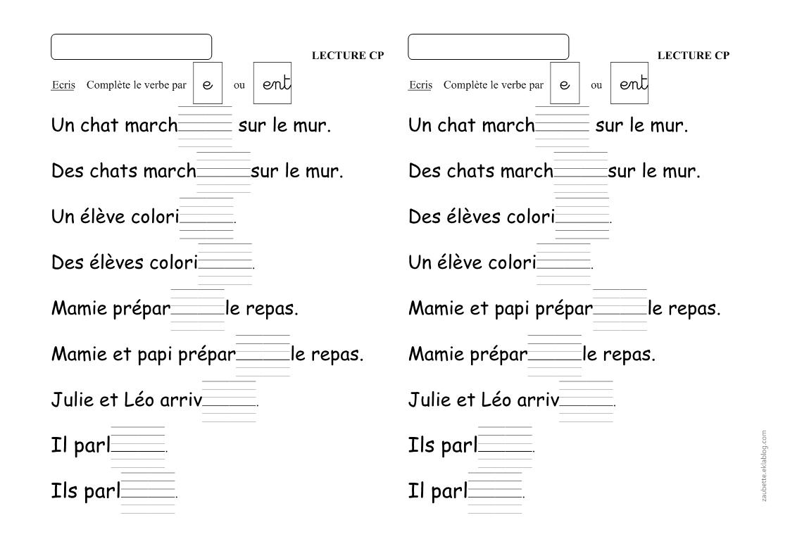 Un Peu De Grammaire En Cp - Zaubette tout Fiche Français Ce1 Imprimer