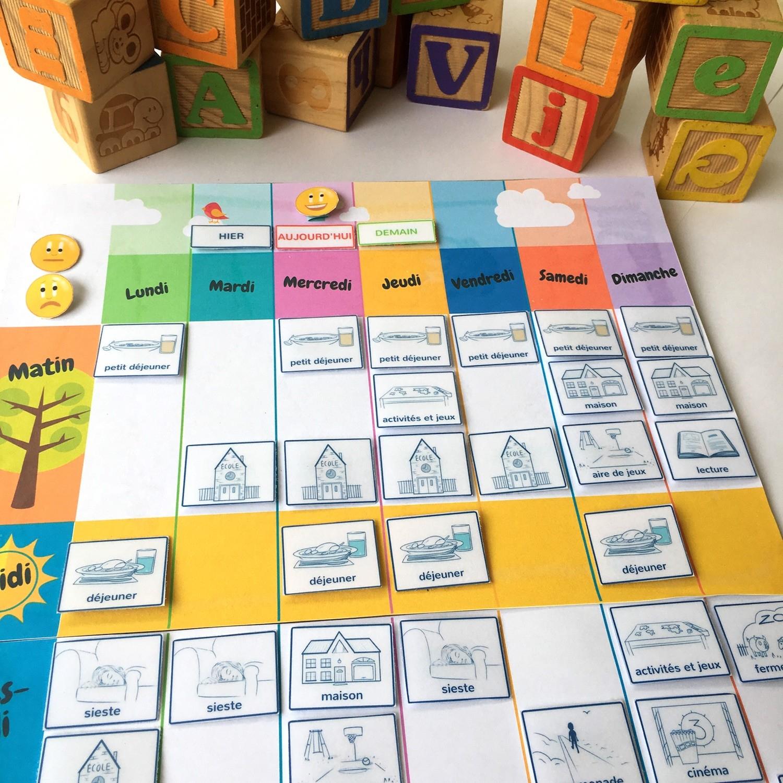 Un Semainier À Imprimer Gratuitement : Aide Ton Enfant À Se avec Jeux Bébé 2 Ans Gratuit A Telecharger