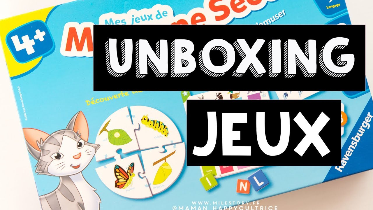 Unboxing Mes Jeux Moyenne Section Maternelle Ravensburger destiné Jeux Educatif Petite Section