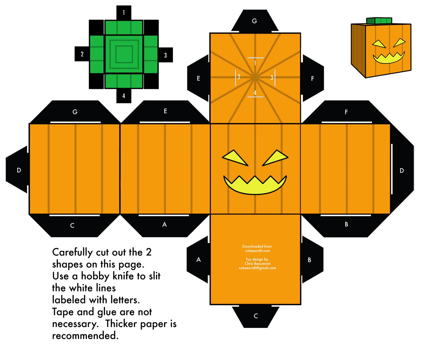 Une Activité Enfants Originale Pour Halloween : Les Papers Toys tout Paper Toy A Imprimer