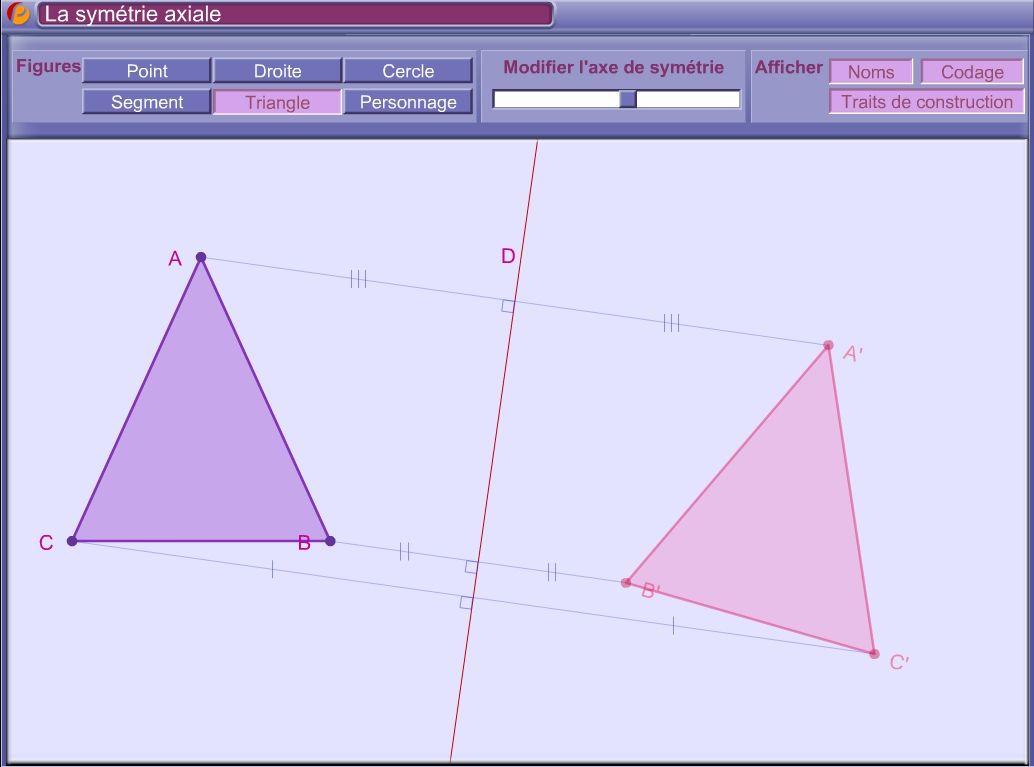 Une Application Interactive Pour Découvrir La Symétrie intérieur Symetrie Axial