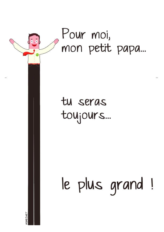 """Une Carte """"le Plus Grand Des Papas"""" - Momes tout Carte A Imprimer Fete Des Meres"""