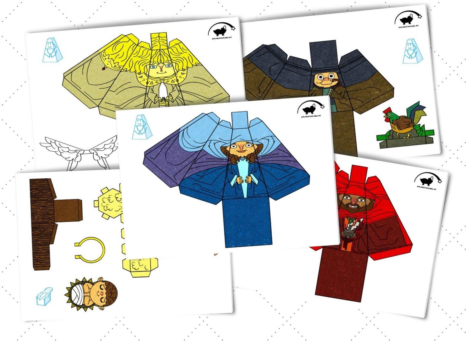 Une Crèche De Noël En Papier À Imprimer - Un Jour Un Jeu avec Creche A Imprimer