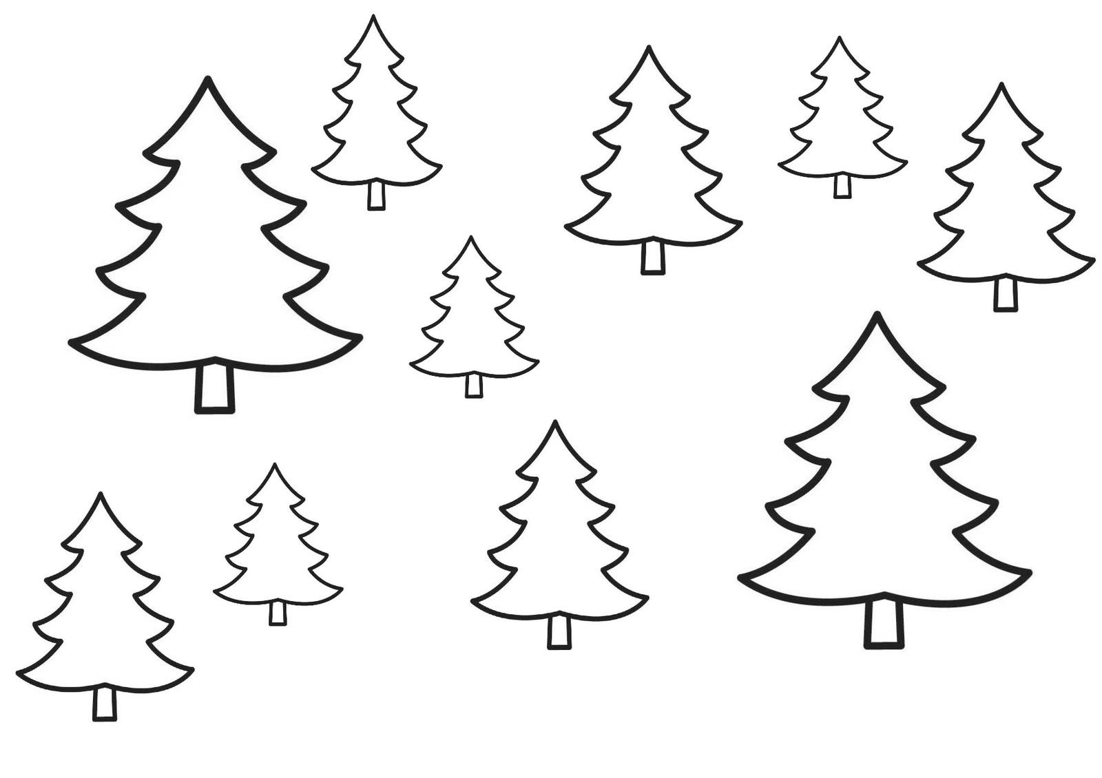 Une Forêt De Sapin Sous La Neige ! - Nounou Aline intérieur Gabarit Sapin De Noel