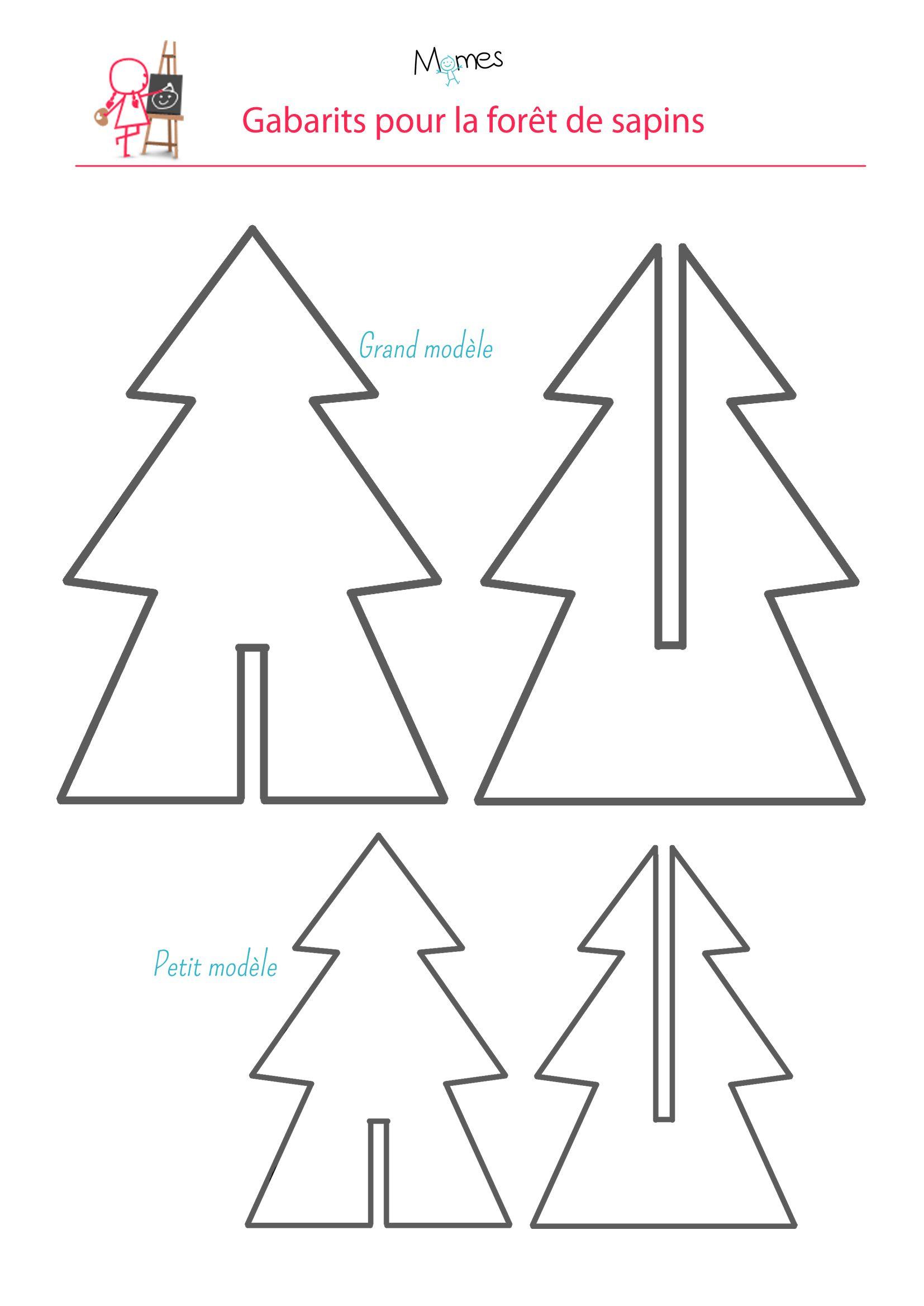 Une Forêt De Sapins | Noel, Sapin De Noël En Carton Et serapportantà Gabarit Sapin De Noel