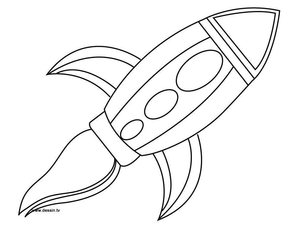 Une Fusée À Imprimer Et Colorier, Mais Aussi Facile À pour Fusée À Imprimer