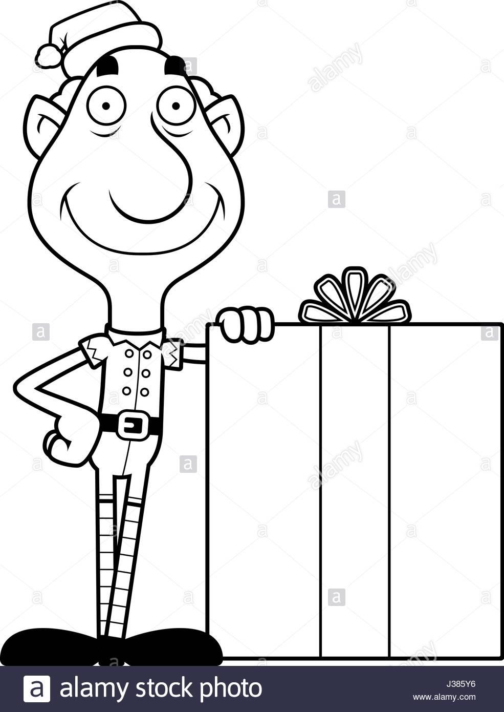 Une Illustration D'un Dessin De Lutin De Noël Grand-Père tout Dessiner Un Lutin