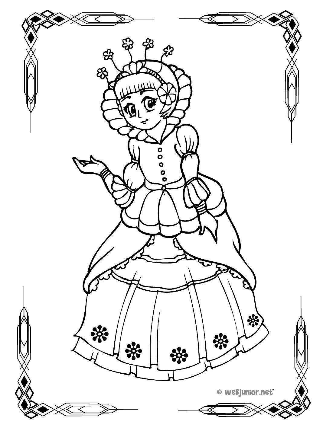 Une Jolie Princesse : Coloriage Princesses Gratuit Sur Webjunior destiné Dessin Chateau Princesse