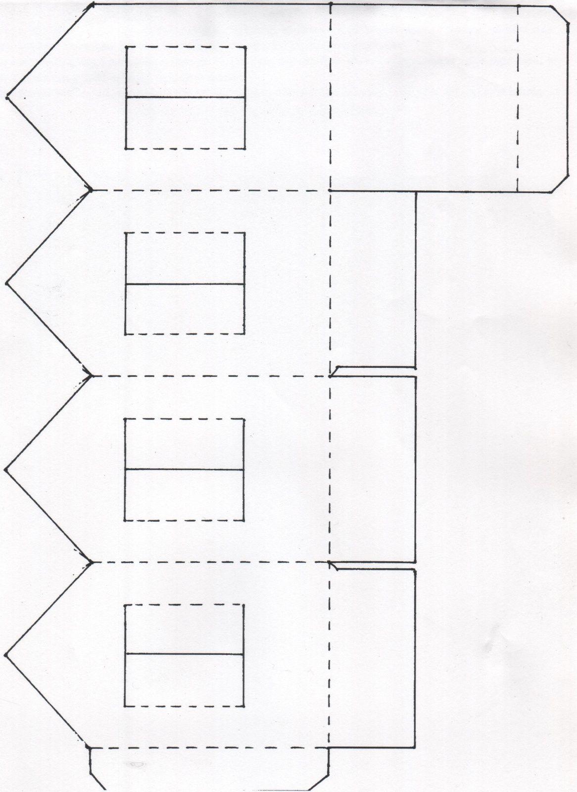 Une Maison Photophore En Papier | Maisons De Papier, Papier intérieur Patron De Maison En Papier A Imprimer