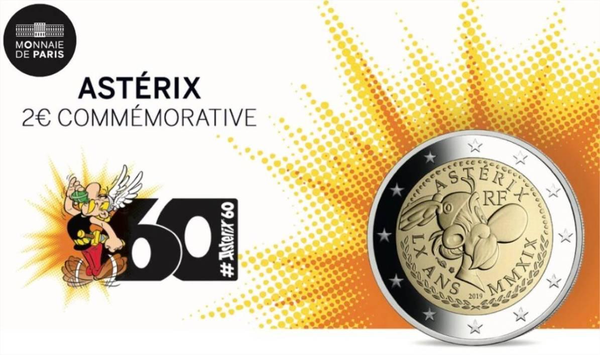 Une Pièce De 2 Euros À L'effigie D'astérix destiné Pièces Euros À Imprimer