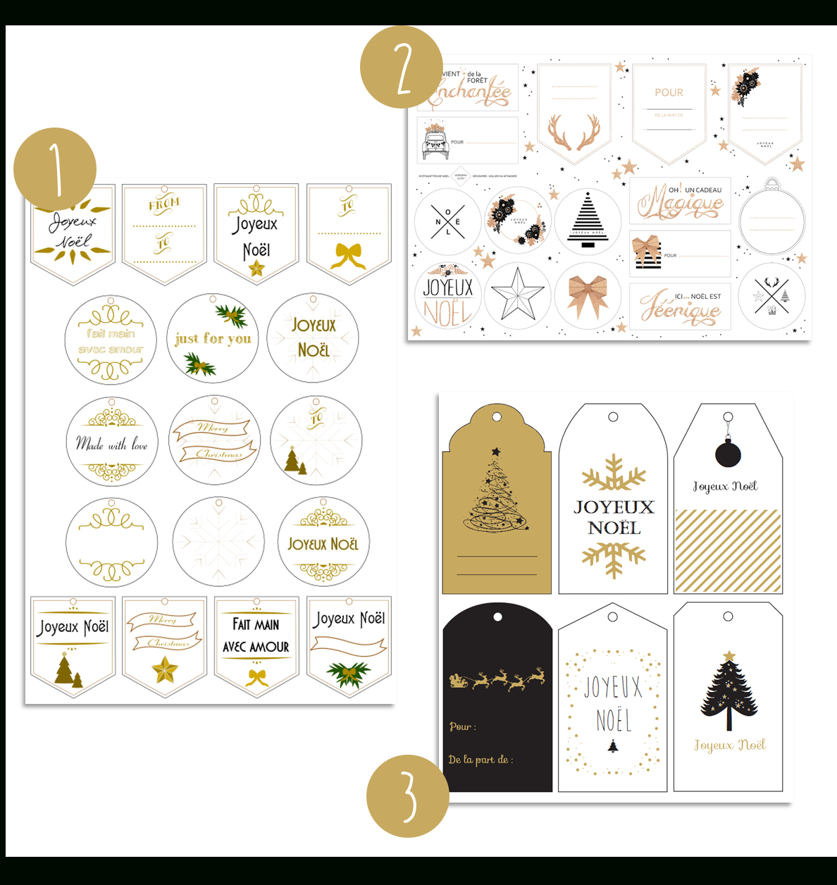 Une Sélection D'étiquettes De Noël À Imprimer Gratuitement concernant Etiquette Cadeau Noel A Imprimer Gratuitement
