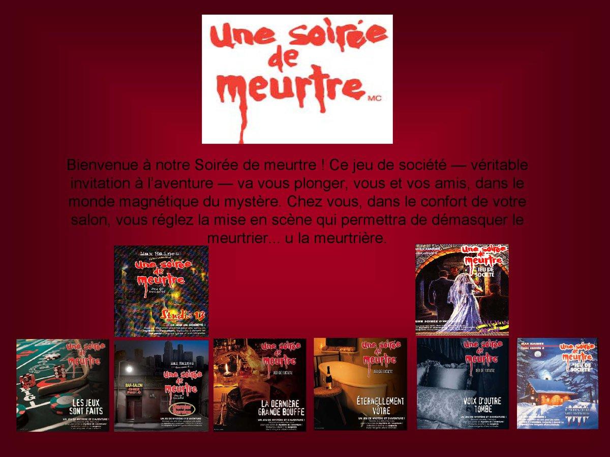 """Une Soiree De Meurtre On Twitter: """"jeu De Société Gratuit tout Jeux Societe Gratuit"""