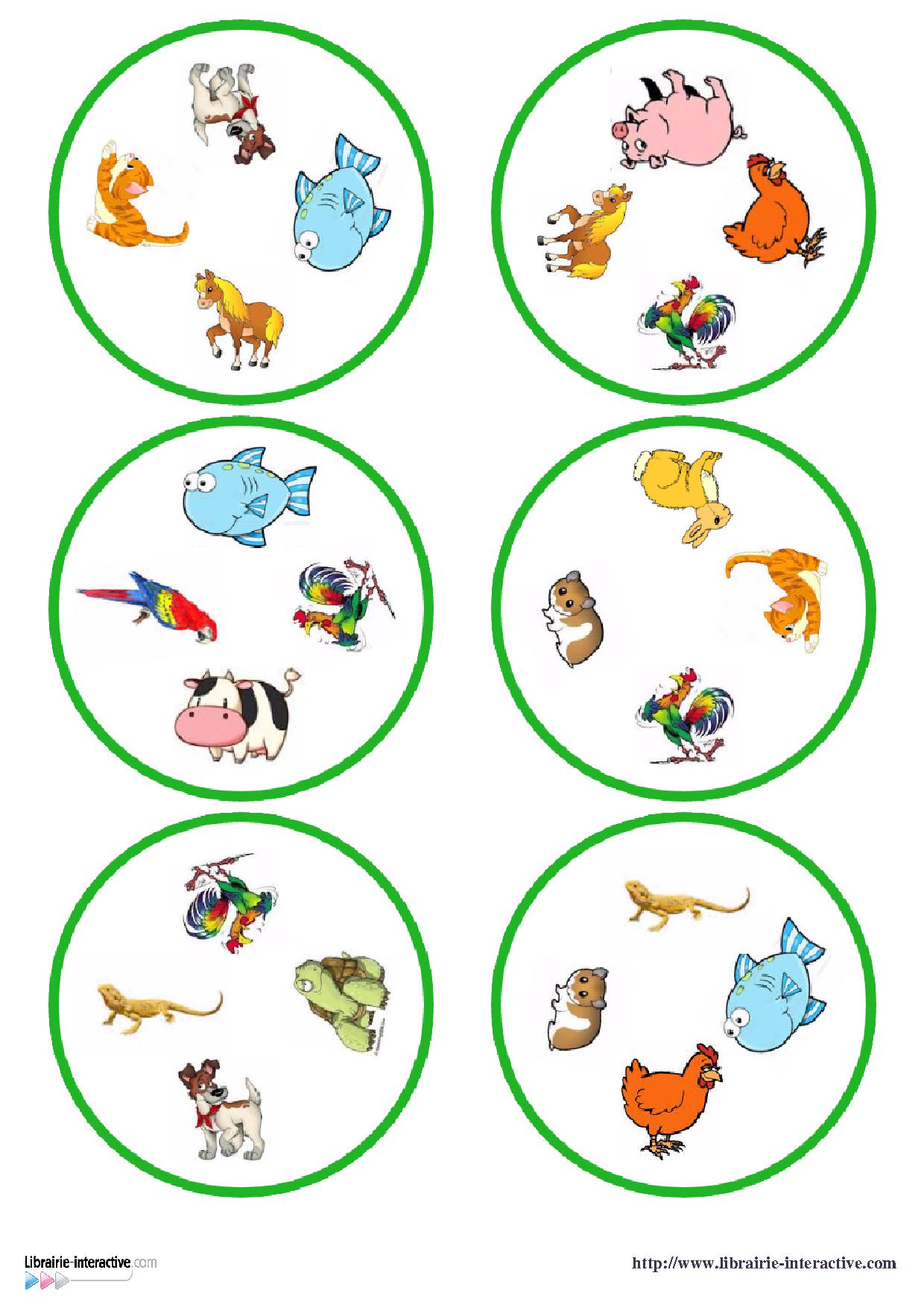 Une Version Du Célèbre Jeu De Dobble Sur Le Thème Des avec Jeux Educatif 4 Ans A Imprimer