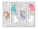 Unicorn Bookmarks - Pdf Zentangle Coloring Page   Coloriage pour Marque Page Gratuit À Imprimer