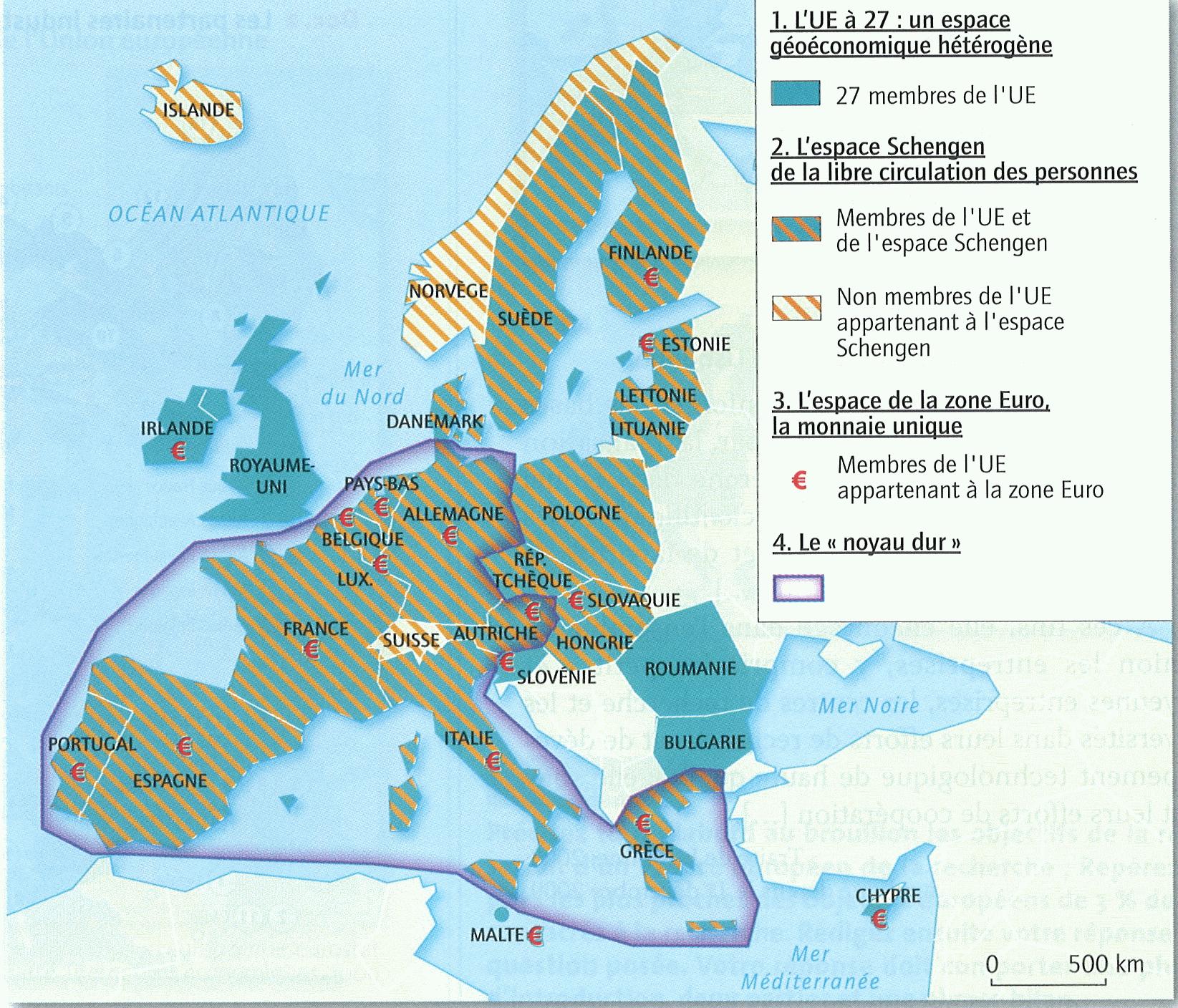 Union Européenne Et Ses Territoires – Hgeeks encequiconcerne La Carte De L Union Européenne