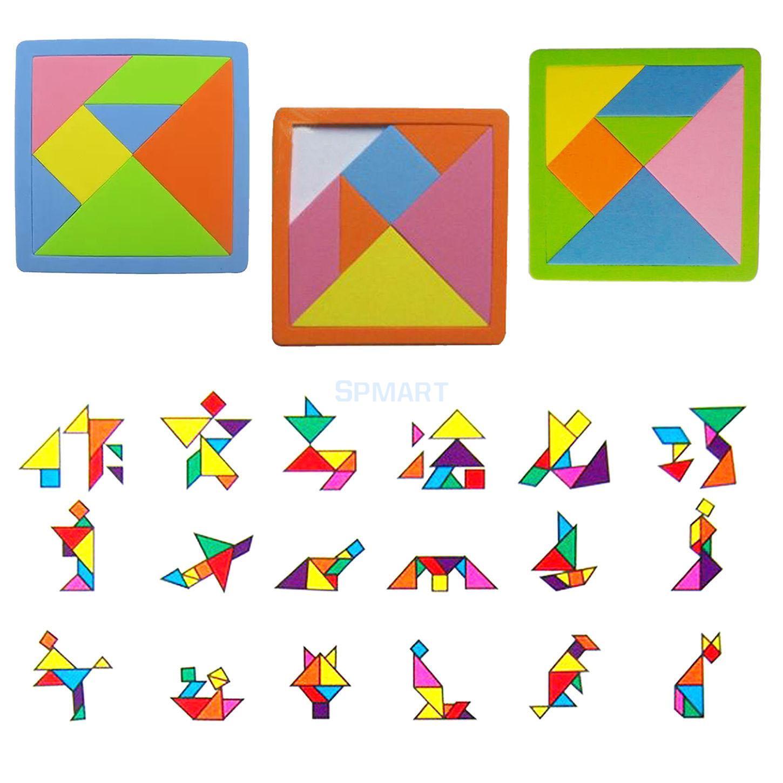 Us $2.06 37% Off|7 Pieces Eva Foam Tangram Brain Educational Teaser Puzzle  Game Kid Toys|Kids Toys|Puzzle Game|Games Kids - Aliexpress avec Pièces Tangram