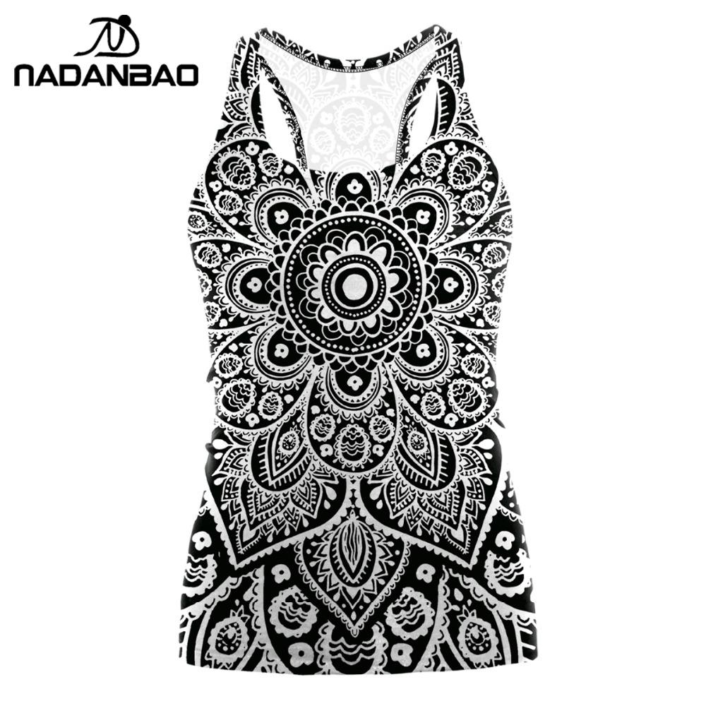 Us $2.74 45% Off|Nadanbao Mandala Plus Size Tshirt Tank Tops Women Red  Flower Aztec Round Ombre Sleeveless Y Club T Shirt Nina|Tank Tops| |  - pour Mandala Fée