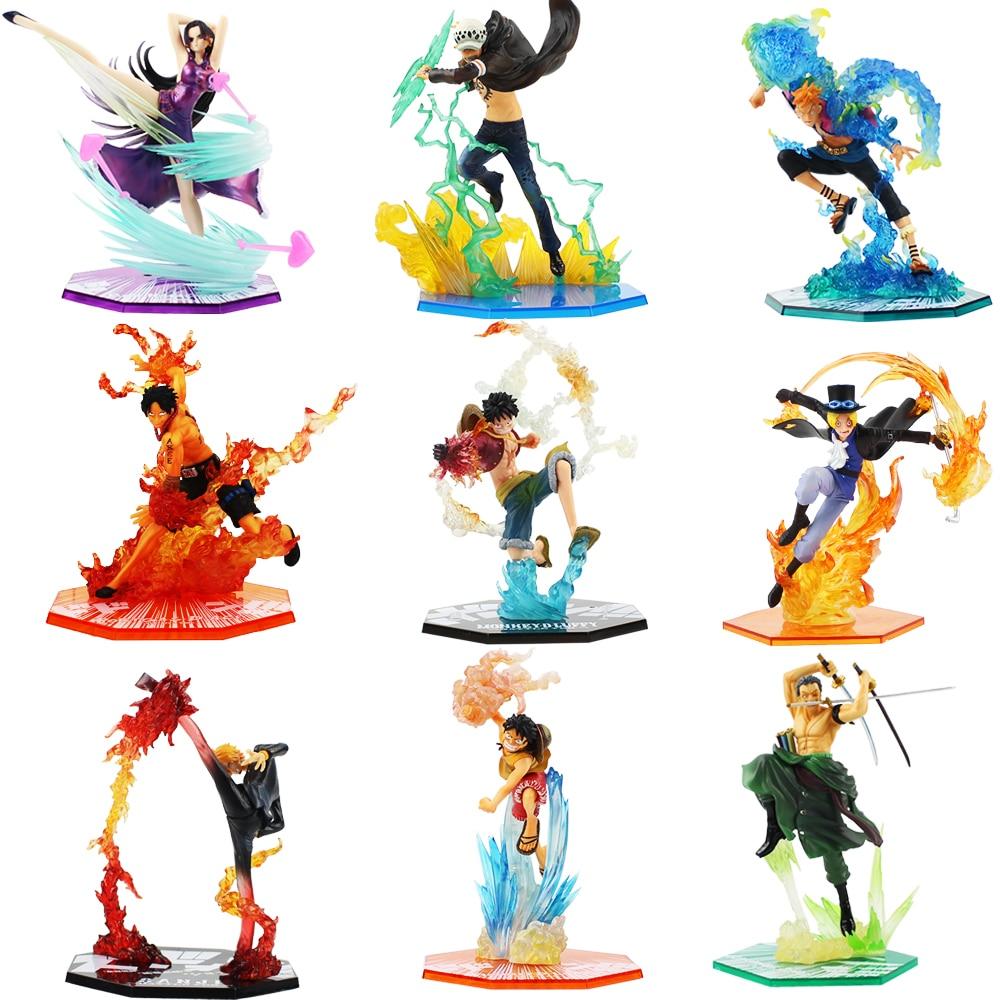 Us $8.86 23% Off|Anime One Piece Figure Toy Luffy Ace Sabo Brotherhood Law  Marco Hancock Zoro Sanji Battle Ver Model Toys|Action & Toy Figures| | - concernant Dessin Animé De One Piece