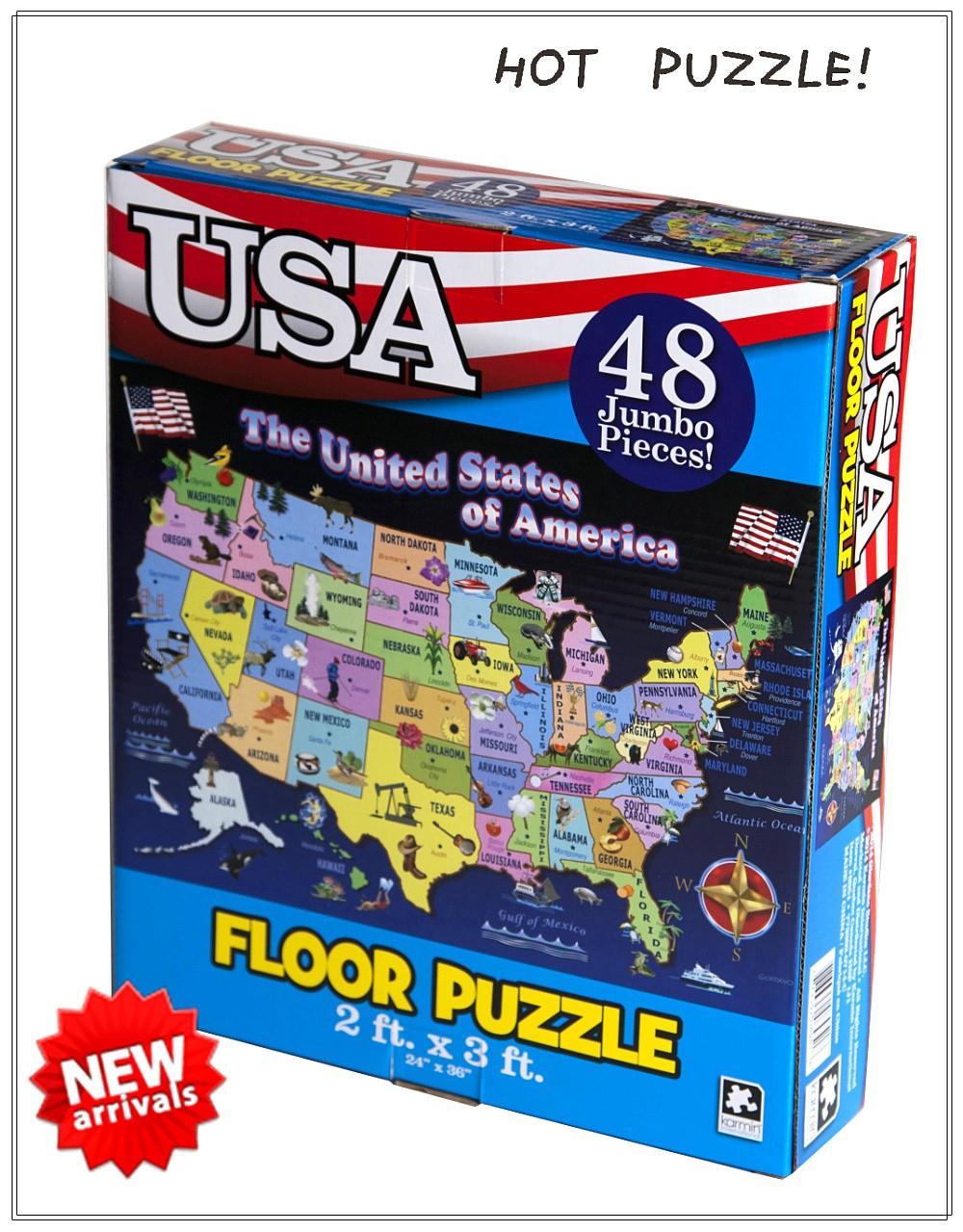 Usa Carte Puzzle Pour Enfants Jouer À Des Jeux De Puzzle Gratuit En Ligne -  Buy Jouer À Des Jeux De Puzzle En Ligne Gratuit,pour Jouer À Des Jeux En à Puzzle Enfant En Ligne