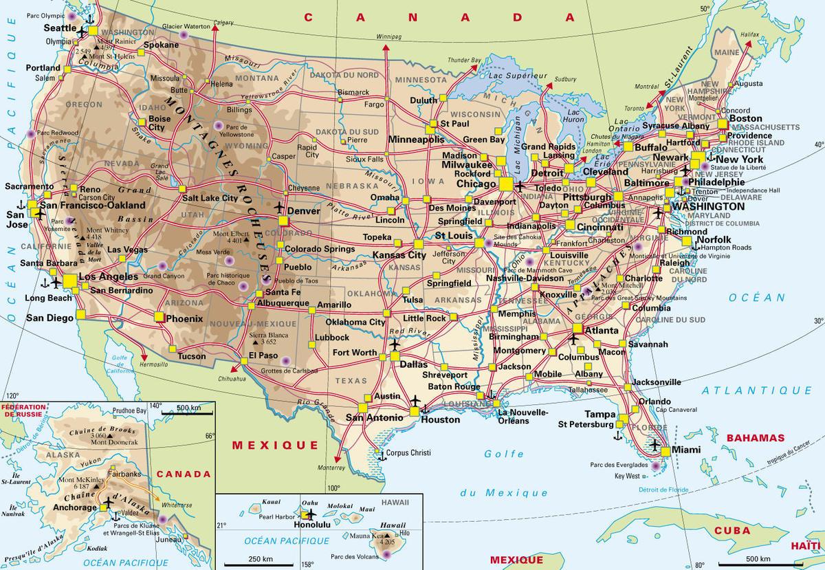Usa : La Grève Des Raffineries Touche 20% Des Capacités De serapportantà Carte Etat Amerique