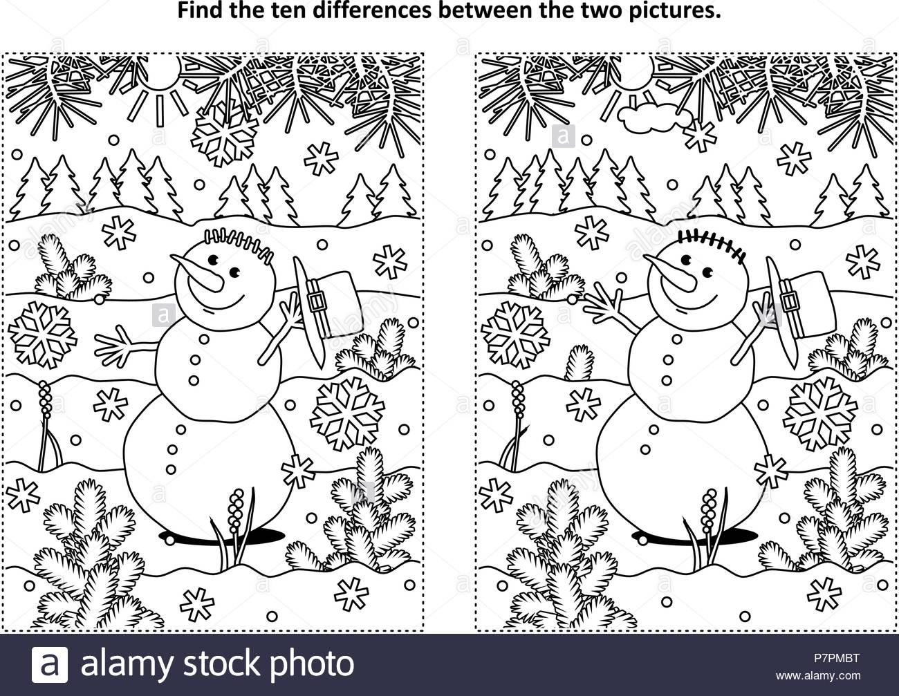 Vacances D'hiver, Le Nouvel An Ou À Thème De Noël Trouver encequiconcerne Trouver Les Difference