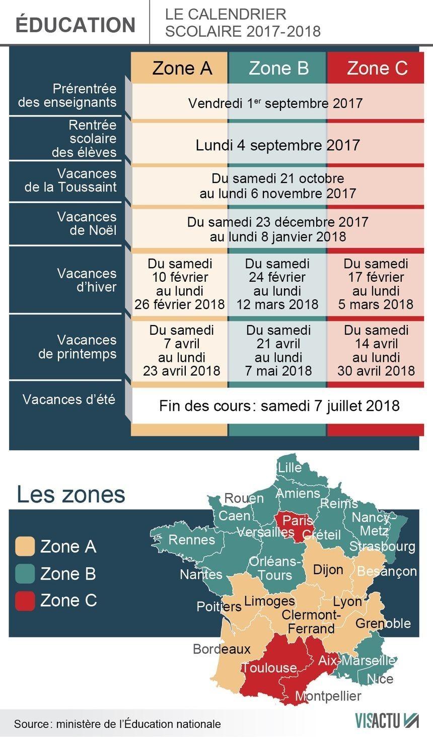Vacances Scolaires : On Connaît Enfin Le Calendrier 2017 dedans Calendrier 2018 Enfant