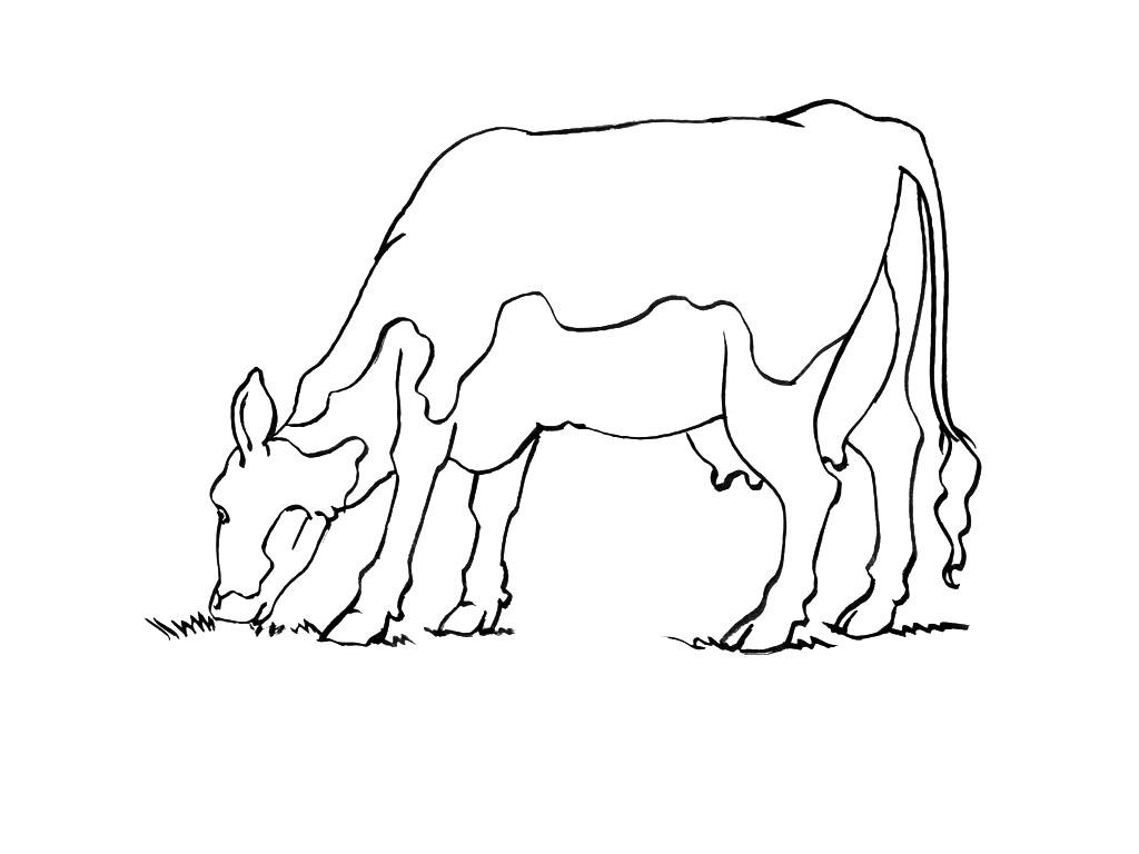 Vache #119 (Animaux) – Coloriages À Imprimer avec Coloriage Tracteur Tom À Imprimer