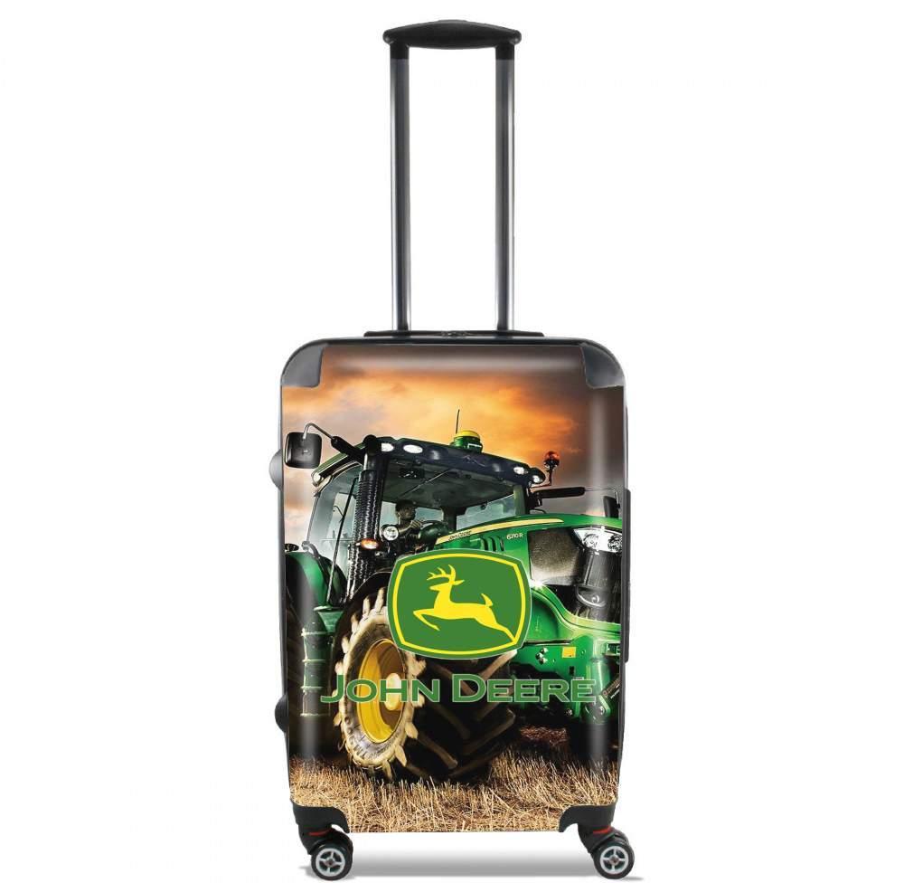 Valise Format Cabine John Deer Tracteur Vert avec Dessin Animé De Tracteur John Deere
