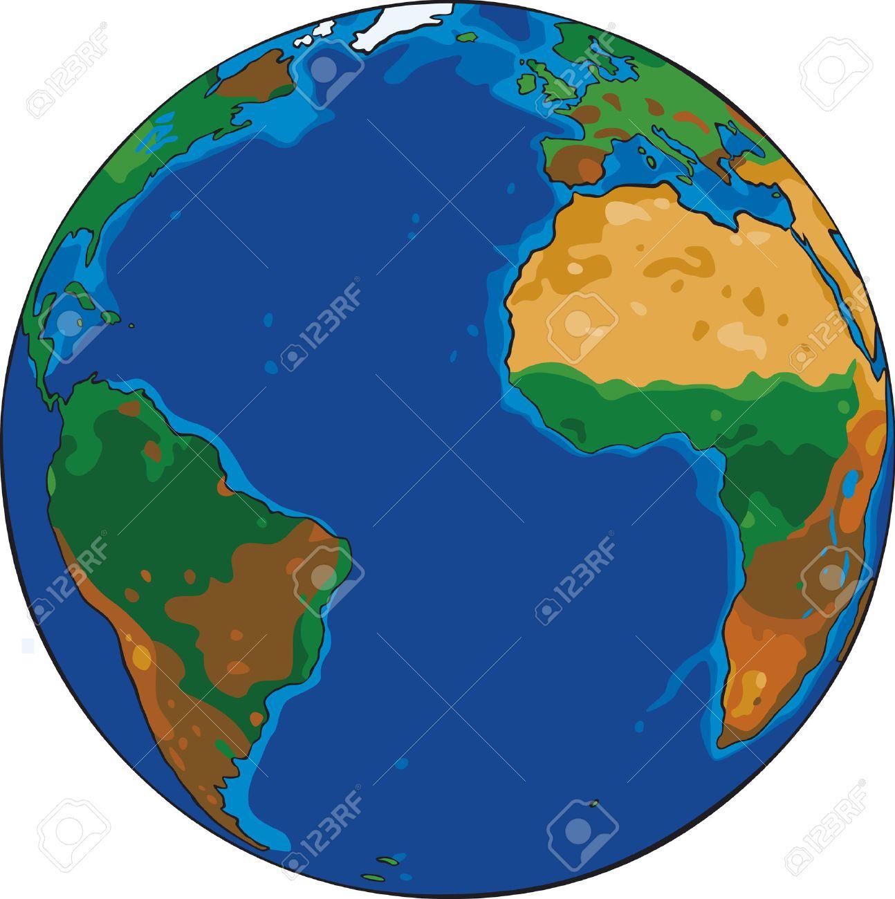 Vecteur De Dessin Animé De Dessin De La Planète Terre serapportantà Image De La Terre Dessin