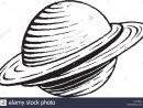 Vector Illustration D'un Style De Dessin Encre Scratchboard serapportantà Saturne Dessin